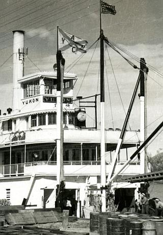 paddle wheel steamer yukon at nenana